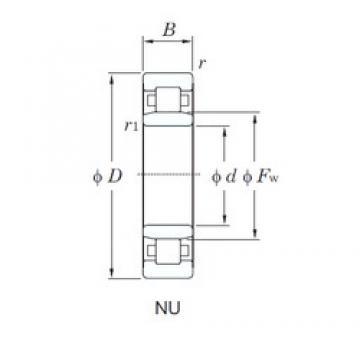 170 mm x 310 mm x 52 mm  KOYO NU234R cylindrical roller bearings