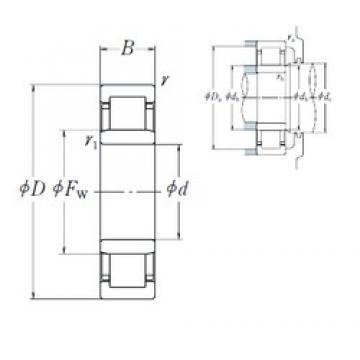 190 mm x 340 mm x 92 mm  NSK NU2238EM cylindrical roller bearings