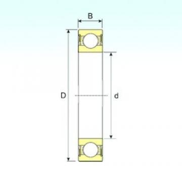 45 mm x 58 mm x 7 mm  ISB 61809-2RS deep groove ball bearings