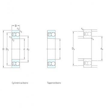50 mm x 110 mm x 27 mm  SKF 1310ETN9 self aligning ball bearings