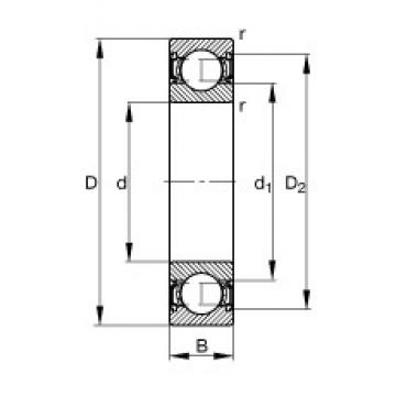 15 mm x 42 mm x 13 mm  FAG 6302-2RSR deep groove ball bearings