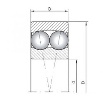 15 mm x 42 mm x 13 mm  ISO 1302 self aligning ball bearings