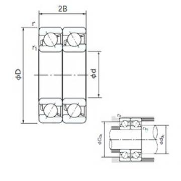 170 mm x 310 mm x 52 mm  NACHI 7234BDT angular contact ball bearings