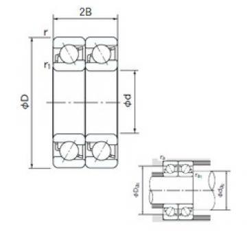50 mm x 110 mm x 27 mm  NACHI 7310BDT angular contact ball bearings