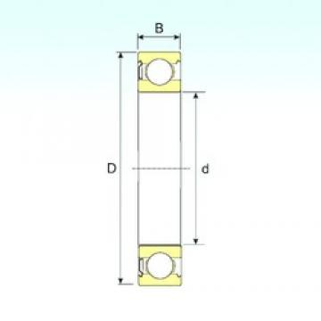120 mm x 180 mm x 28 mm  ISB 6024-Z deep groove ball bearings