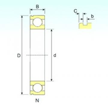 120 mm x 180 mm x 28 mm  ISB 6024 N deep groove ball bearings