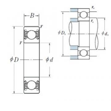 120 mm x 180 mm x 28 mm  NSK 6024VV deep groove ball bearings