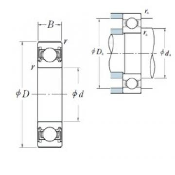 80 mm x 140 mm x 26 mm  NSK 6216VV deep groove ball bearings