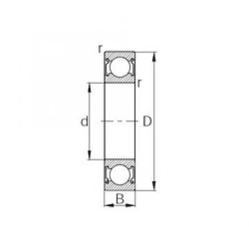 15 mm x 42 mm x 13 mm  KBC 6302ZZ deep groove ball bearings
