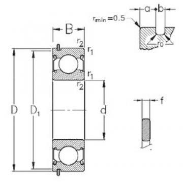 65 mm x 120 mm x 23 mm  NKE 6213-2Z-NR deep groove ball bearings