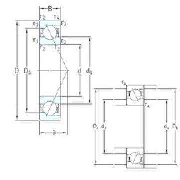 65 mm x 120 mm x 23 mm  SNFA E 265 7CE3 angular contact ball bearings