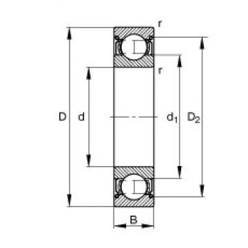 120 mm x 180 mm x 28 mm  FAG 6024-2Z deep groove ball bearings