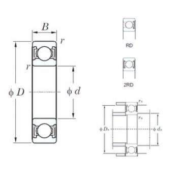 45 mm x 58 mm x 7 mm  KOYO 6809-2RD deep groove ball bearings