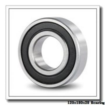 120 mm x 180 mm x 28 mm  NSK 120BER10S angular contact ball bearings