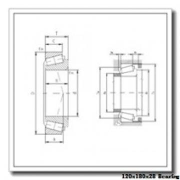 120 mm x 180 mm x 28 mm  KOYO 3NCHAR024CA angular contact ball bearings