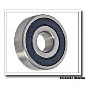15 mm x 42 mm x 13 mm  Fersa 6302 deep groove ball bearings