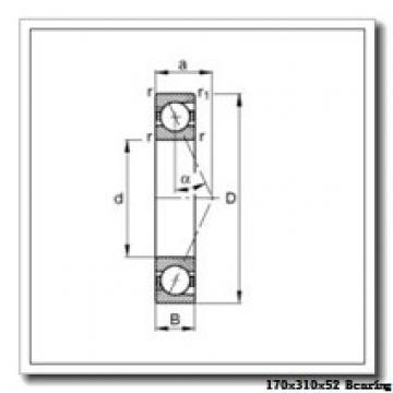 170 mm x 310 mm x 52 mm  NTN 7234BDF angular contact ball bearings