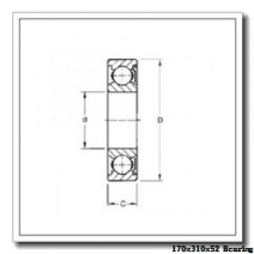 170 mm x 310 mm x 52 mm  NKE 7234-BCB-MP angular contact ball bearings
