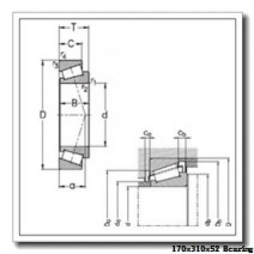 170 mm x 310 mm x 52 mm  NACHI 7234 angular contact ball bearings