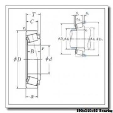 190 mm x 340 mm x 92 mm  NKE NJ2238-E-M6 cylindrical roller bearings