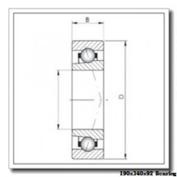 190 mm x 340 mm x 92 mm  NTN NJ2238E cylindrical roller bearings