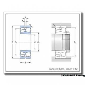 190 mm x 340 mm x 92 mm  Loyal 22238 KCW33+H3138 spherical roller bearings