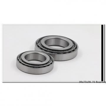 30 mm x 72 mm x 19 mm  NTN 4T-30306 tapered roller bearings