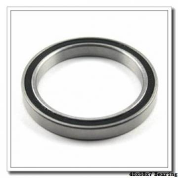 45 mm x 58 mm x 7 mm  ISO 61809-2RS deep groove ball bearings