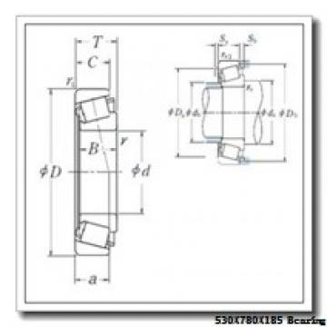 530 mm x 780 mm x 185 mm  ISO 230/530 KW33 spherical roller bearings
