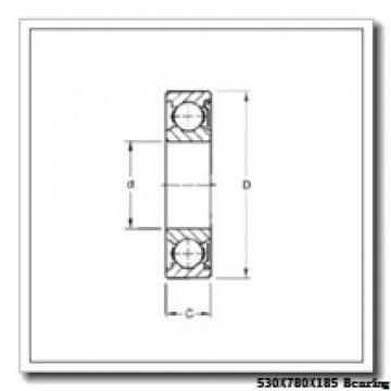 530 mm x 780 mm x 185 mm  Loyal NJ30/530 E cylindrical roller bearings