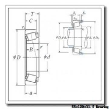 55 mm x 120 mm x 29 mm  Timken 30311 tapered roller bearings