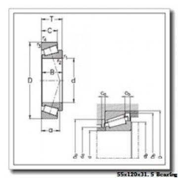 55 mm x 120 mm x 29 mm  NSK HR31311J tapered roller bearings