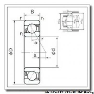 66,675 mm x 112,712 mm x 30,162 mm  Timken 39590/39521 tapered roller bearings