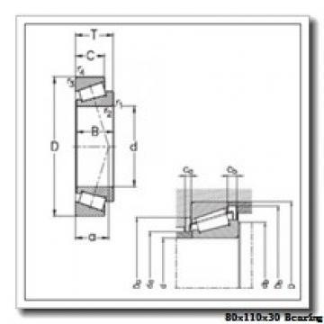 80 mm x 110 mm x 30 mm  IKO NAU 4916 cylindrical roller bearings