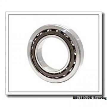 80 mm x 140 mm x 26 mm  NACHI 7216CDT angular contact ball bearings