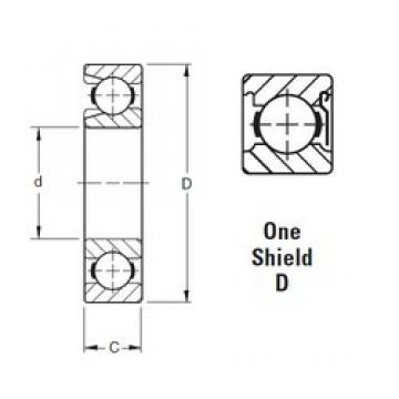50 mm x 110 mm x 27 mm  Timken 310WD deep groove ball bearings
