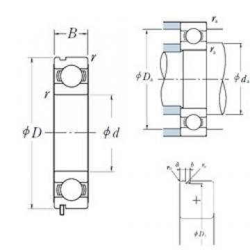 45 mm x 58 mm x 7 mm  NSK 6809N deep groove ball bearings