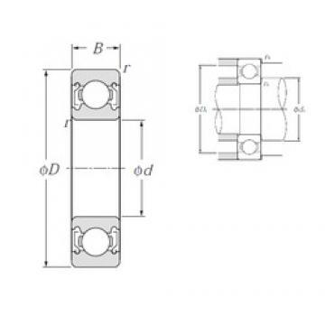 80 mm x 140 mm x 26 mm  NTN 6216ZZ deep groove ball bearings