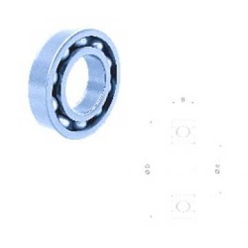 80 mm x 140 mm x 26 mm  Fersa 6216 deep groove ball bearings