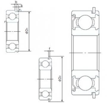 45 mm x 58 mm x 7 mm  NACHI 6809ZENR deep groove ball bearings