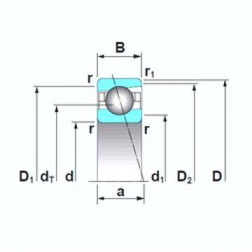 120 mm x 180 mm x 28 mm  NSK 7024CTRSU angular contact ball bearings