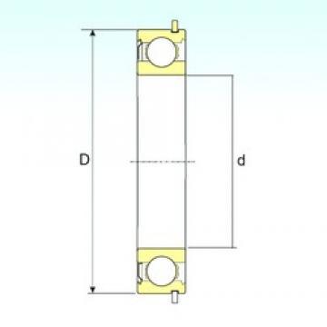 65 mm x 120 mm x 23 mm  ISB 6213-ZNR deep groove ball bearings