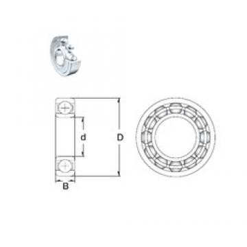 45 mm x 58 mm x 7 mm  ZEN 61809-2Z deep groove ball bearings