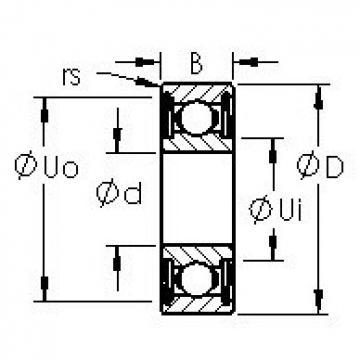 AST 6216ZZ deep groove ball bearings