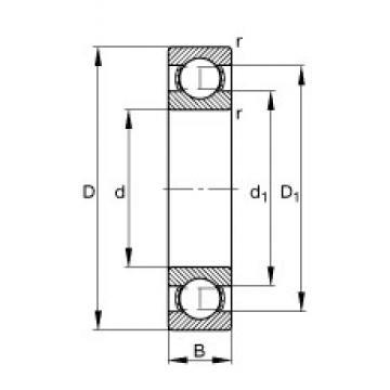 15 mm x 42 mm x 13 mm  FAG S6302 deep groove ball bearings