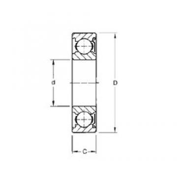 65 mm x 120 mm x 23 mm  Timken 213KD deep groove ball bearings