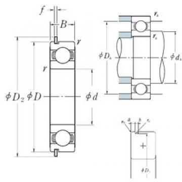 80 mm x 140 mm x 26 mm  NSK 6216NR deep groove ball bearings