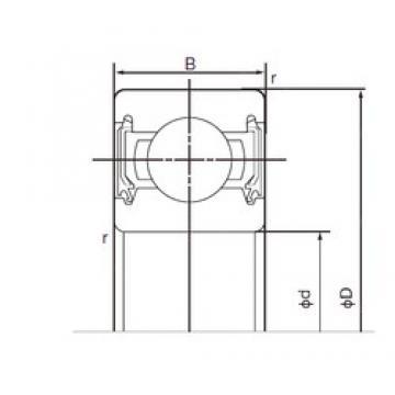 45 mm x 58 mm x 7 mm  NACHI 6809-2NSE deep groove ball bearings