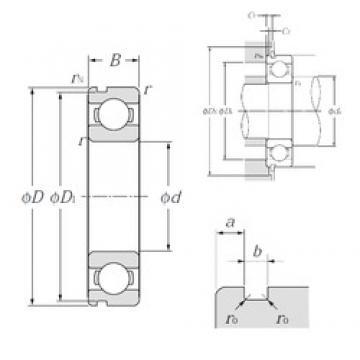 120 mm x 180 mm x 28 mm  NTN 6024N deep groove ball bearings