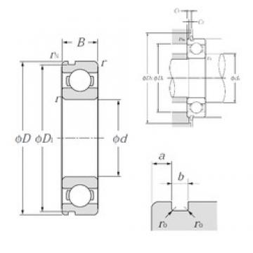 45 mm x 58 mm x 7 mm  NTN 6809N deep groove ball bearings
